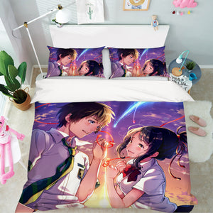 3D Your Name 692 Anime Bed Pillowcases Duvet Cover Quilt Cover