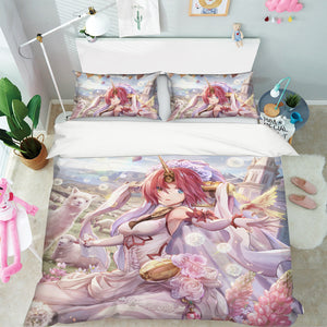 3D Fate Stay Night Grand Order 380 Anime Bed Pillowcases Duvet Cover Quilt Cover