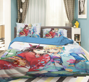 3D Fate Stay Night 769 Anime Bed Pillowcases Duvet Cover Quilt Cover