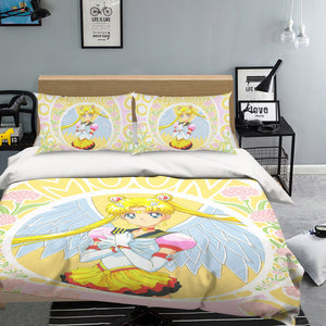 3D Sailor Moon 555 Anime Bed Pillowcases Duvet Cover Quilt Cover