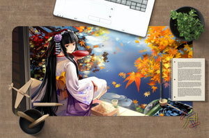 3D Girl Back 3933 Anime Desk Mat