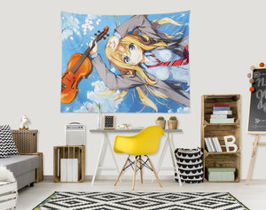 3D Your Lie In April 2384 Anime Tapestry Hanging Cloth Hang