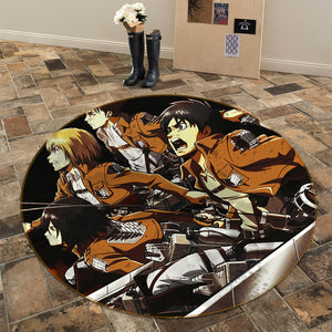 3D Attack On Titan 1724 Anime Non Slip Rug Mat