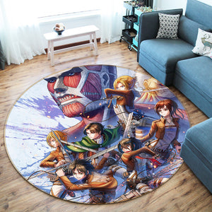 3D Attack On Titan 1721 Anime Non Slip Rug Mat