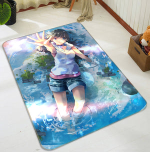 3D Weathering With You 1048 Anime Non Slip Rug Mat