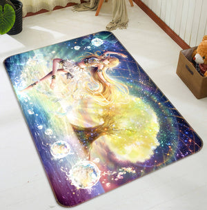 3D Magic Light Girl 1499 Anime Non Slip Rug Mat