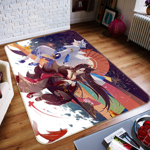 3D Nine-Tailed Fox 1688 Anime Non Slip Rug Mat