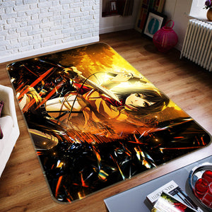 3D Attack On Titan 1615 Anime Non Slip Rug Mat