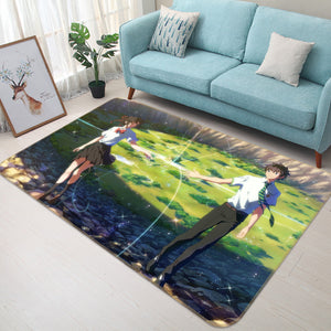 3D Your Name 1385 Anime Non Slip Rug Mat