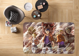 3D Attack On Titan 1805 Anime Non Slip Rug Mat