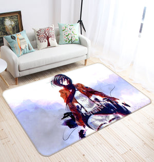 3D Attack On Titan 1618 Anime Non Slip Rug Mat
