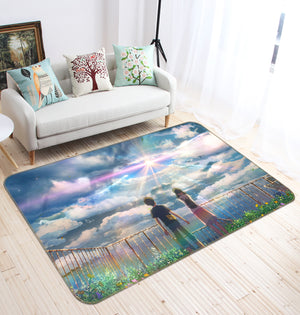 3D Weathering With You 1001 Anime Non Slip Rug Mat