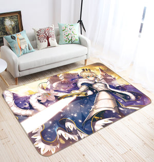 3D Fate Stay Night 1824 Anime Non Slip Rug Mat