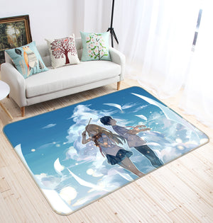 3D Your Lie In April 1372 Anime Non Slip Rug Mat
