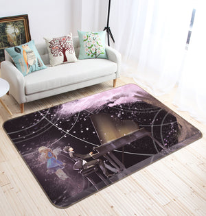 3D Your Lie In April 1538 Anime Non Slip Rug Mat