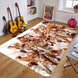 3D Attack On Titan 1624 Anime Non Slip Rug Mat