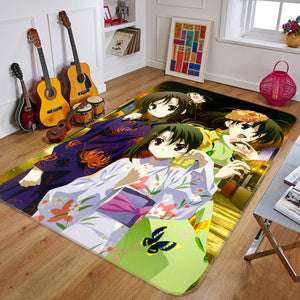 3D Flower Season Girl 1710 Anime Non Slip Rug Mat