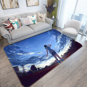 3D Weathering With You 1007 Anime Non Slip Rug Mat
