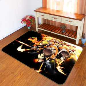 3D Attack On Titan 1638 Anime Non Slip Rug Mat
