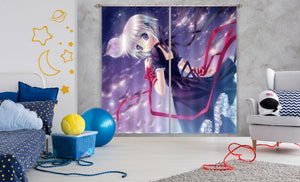 3D Moon Girl 081 Anime Curtains Drapes