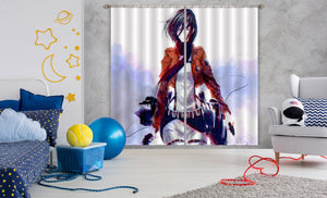 3D Attack On Titan 364 Anime Curtains Drapes