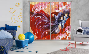 3D Touka Gettan 158 Anime Curtains Drapes