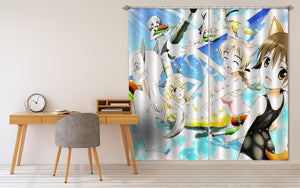 3D STRIKE WITCHES 271 Anime Curtains Drapes