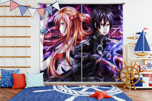 3D Sword Art Online 281 Anime Curtains Drapes