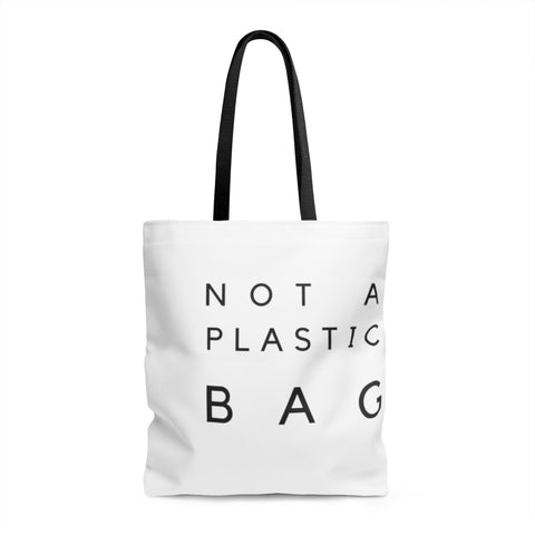 """Not A Plastic Bag"" Shopping Tote - 100% all natural  organic-  green clean skincare, bath and body, beauty- BEAUT.E"
