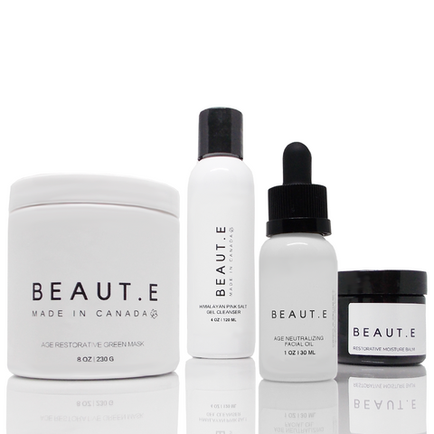 Age Neutralizing Skincare Bundle - 100% all natural  organic-  green clean skincare, bath and body, beauty- BEAUT.E