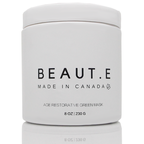 Age Restorative Green Mask - Vegan - Peta Approved - clean skincare - made in Canada - BEAUT.E