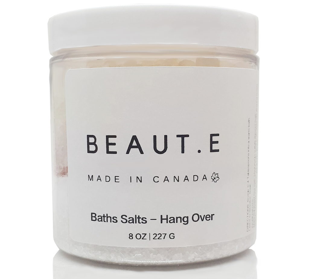 Bath Tea Salts - Hang Over - 100% all natural  organic-  green clean skincare, bath and body, beauty- BEAUT.E