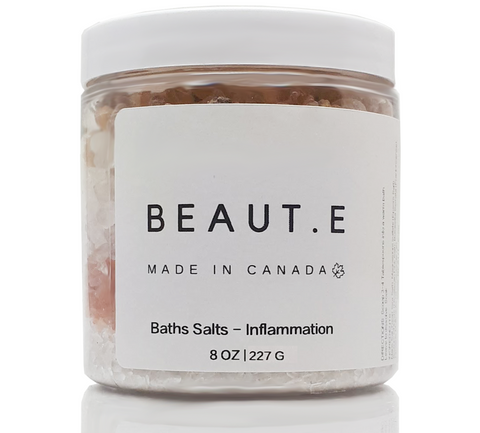 Bath Tea Salts - Inflammation - 100% all natural  organic-  green clean skincare, bath and body, beauty- BEAUT.E