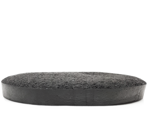 Bamboo Charcoal Facial Sponge - 100% all natural  organic-  green clean skincare, bath and body, beauty- BEAUT.E
