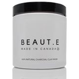 Charcoal Clay Mask - 100% all natural  organic-  green clean skincare, bath and body, beauty- BEAUT.E