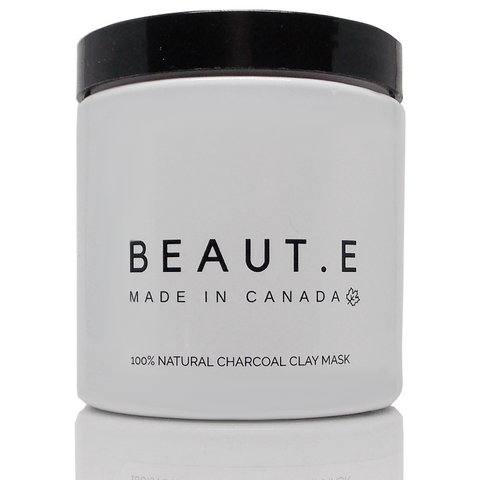 Charcoal Clay Mask - Vegan - Peta Approved - clean skincare - made in Canada - BEAUT.E