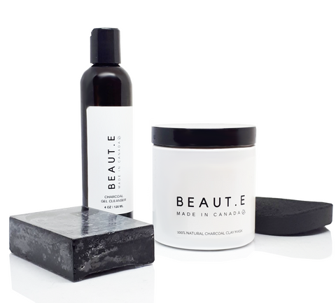 Charcoal Skincare Bundle - 100% all natural  organic-  green clean skincare, bath and body, beauty- BEAUT.E