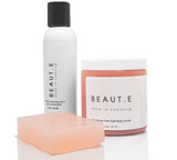 Himalayan Pink Salt Cleansing Bundle - 100% all natural  organic-  green clean skincare, bath and body, beauty- BEAUT.E