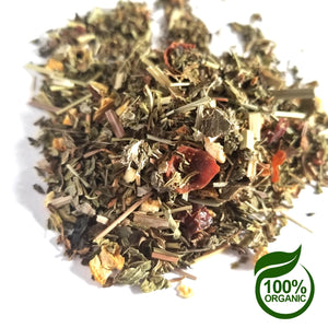 Dazzle Mint Tea - Organic Herbal Tea - HandBlended - 2oz - 1lb Available - Bulk Tea - Raspberry & Mint - Afternoon Tea