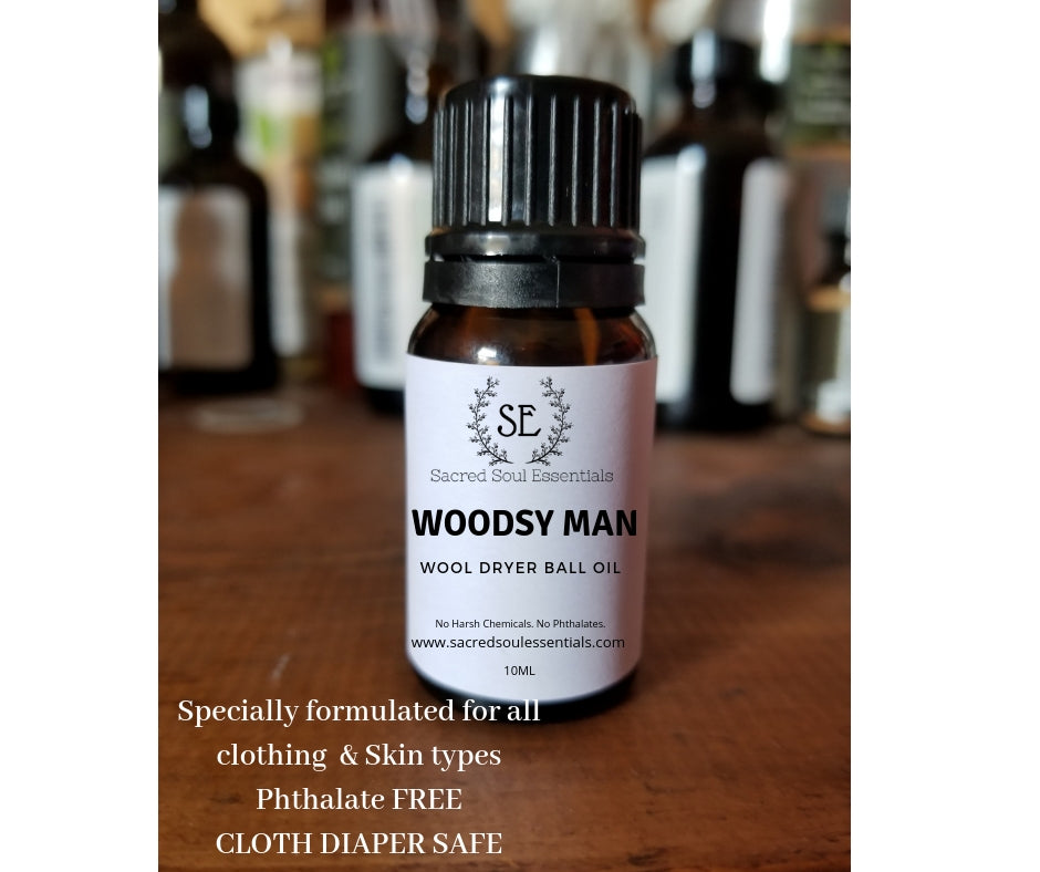 Woodsy Man - Dryer Ball Oil - Phthalate Free - 10ml