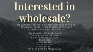 Wholesale Wool Dyer Balls- Low Minimums