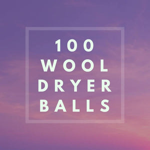 100 Wool Dryer Balls - Wholesale Pricing-FLAT RATE SHIPPING-Sacred Soul Essentials