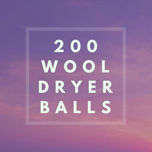 200 Wool Dryer Balls- WHOLESALE PRICING- Flat Rate Shipping
