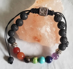 Tree of Life Aromatherapy Bracelet- Chakra Balance- ONE SIZE FITS MOST-Sacred Soul Essentials