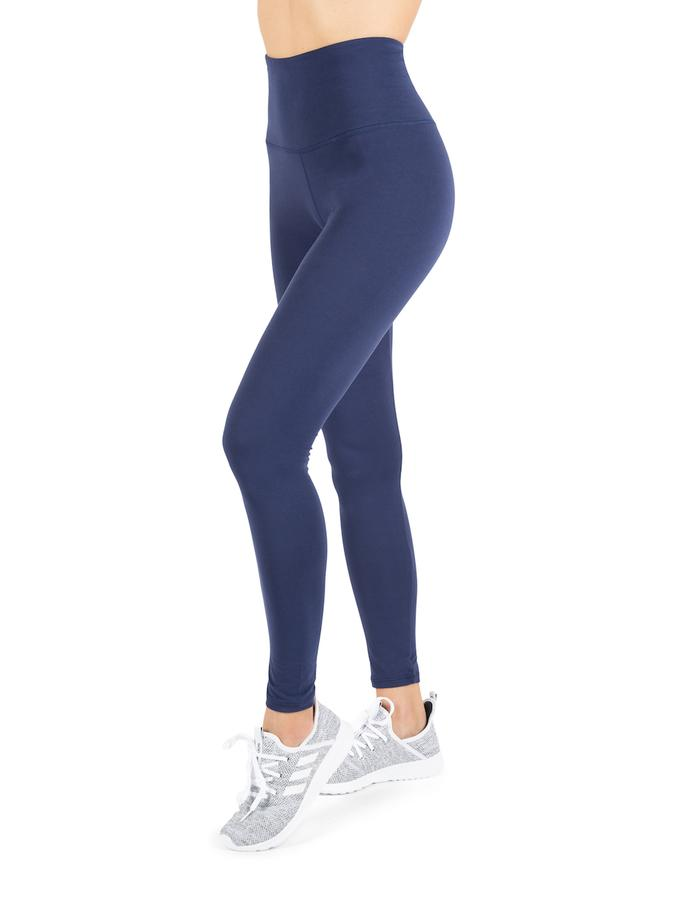Womens Navy Super Soft Full Length High Waist Legging