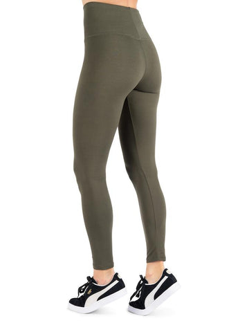 Womens Olive Super Soft Full Length High Waist Legging