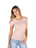 Womens Blush Seamless Rib Cold Shoulder Top