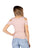 Womens Blush Seamless Rib Cold Shoulder Top 2 Alternate View