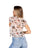 Womens Ivory Floral Printed Floral Mesh Tee 2 Alternate View