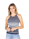 Seamless Rib High Neck Tank